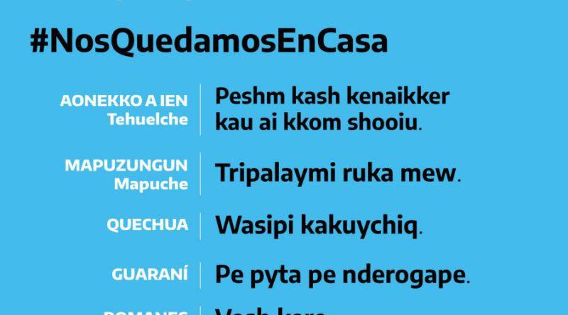 #NosQuedamosEnCasa Una campaña que nos incluye a todxs