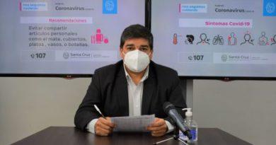 """García: """"Mañana llegaran a Santa Cruz mil dosis para la segunda tanda de vacunación"""""""